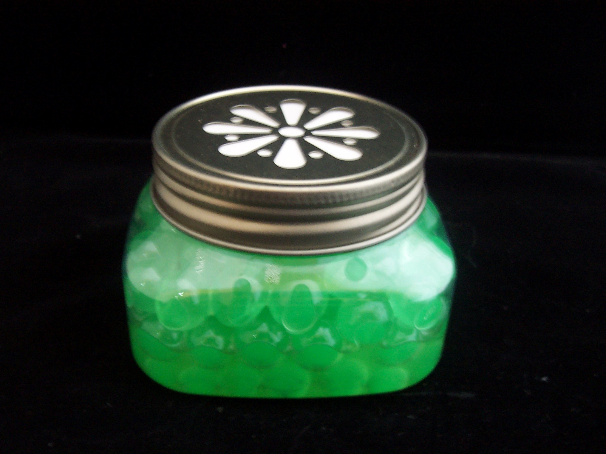 PET 8 oz. Firenze Jar w/ Daisy Lids Set of 12