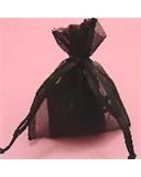 "Black 3""x4"" Organza Bag"