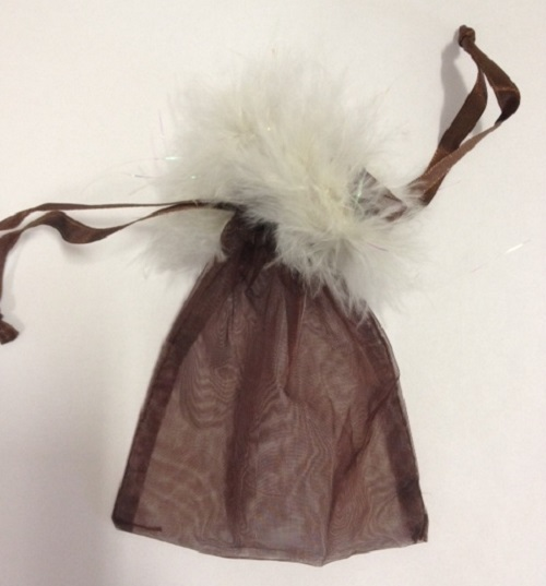 Feather Trim Organza Bags