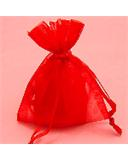 "Red 3""x4"" Organza Bag"
