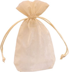 "Toffee 3""x4"" Organza Bag"