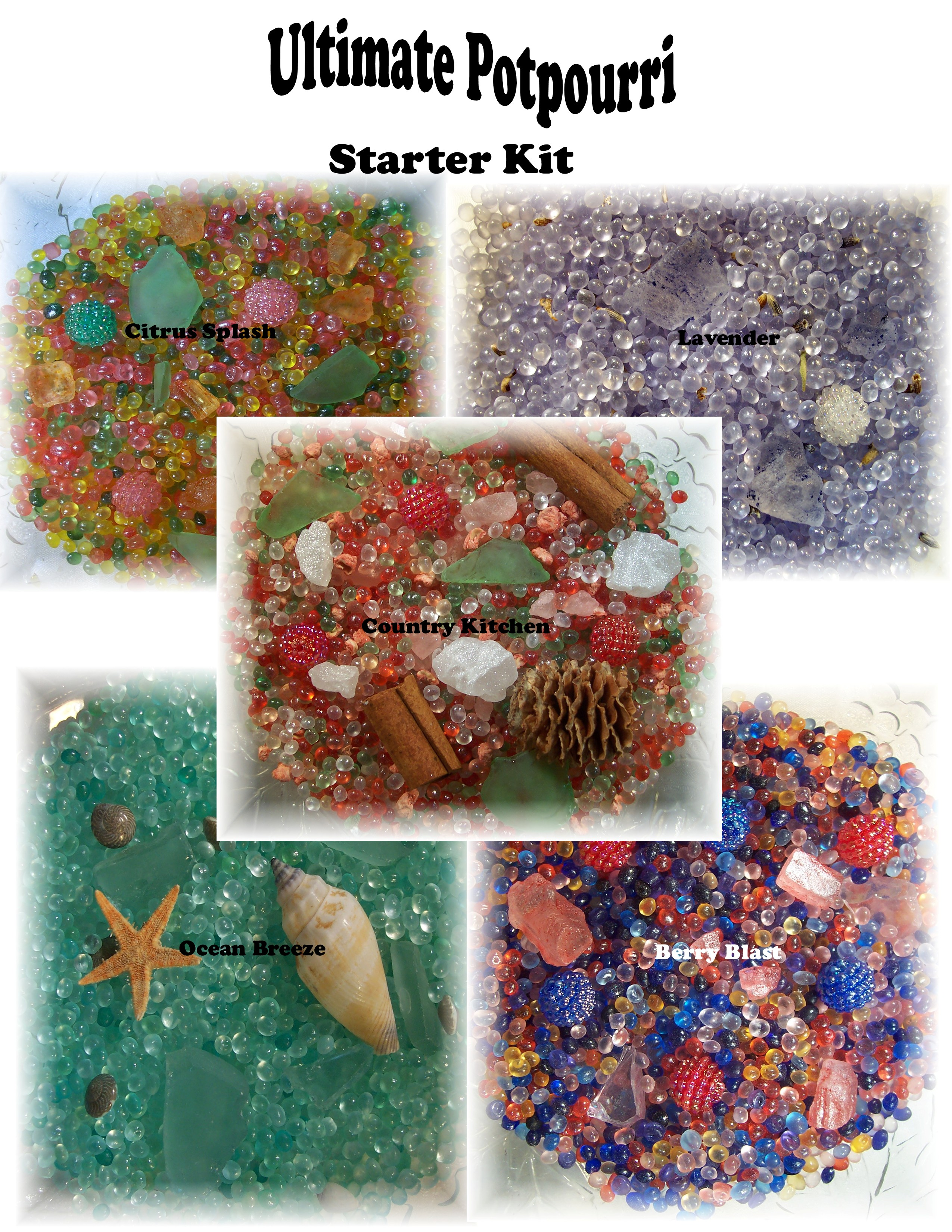 Ultimate Potpourri Starter Kit - 5 lbs. ea. of 5 fragrances