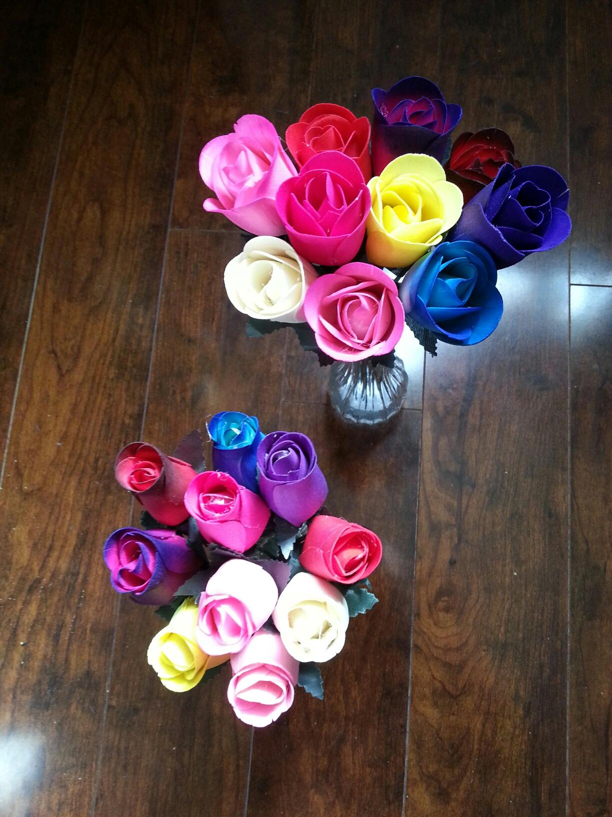 Unscented Wooden Roses