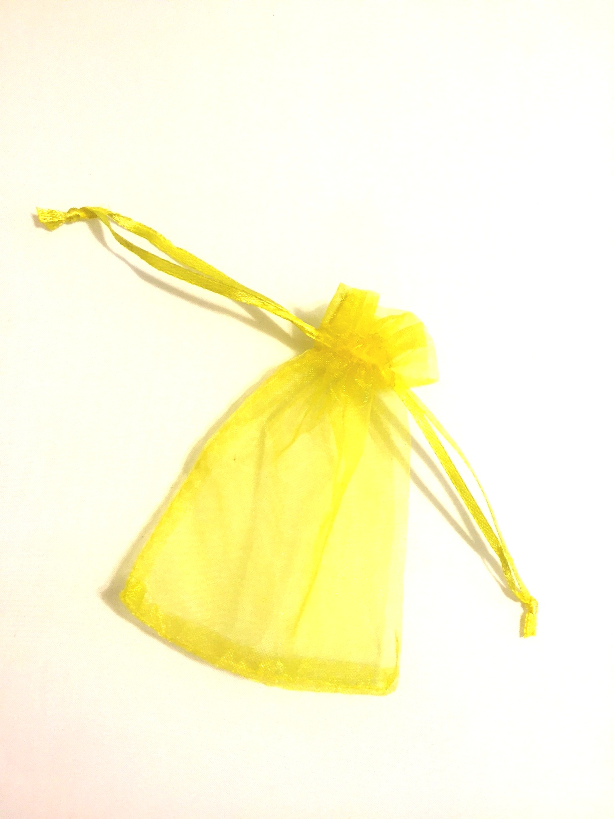 "Yellow 3""x4"" Organza Bag"